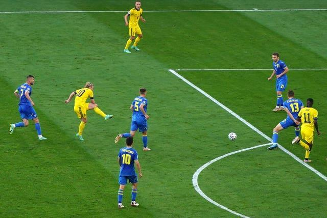 Emil Forsberg equalised with his fourth goal of the tournament