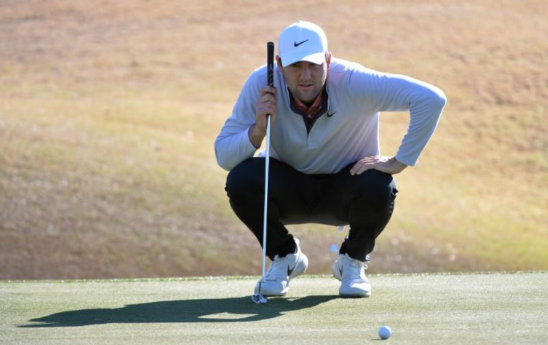 Scheffler tied for lead after rocky finish to third round