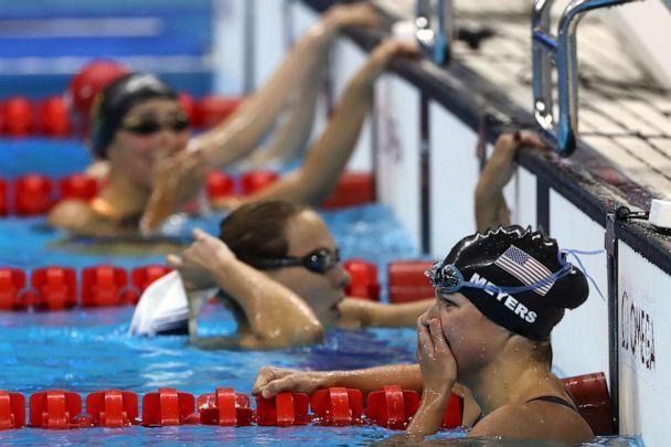 PHOTO: Rebecca Meyers of the United States competes at the Women's 400m Freestyle - S13 Final during day 5 of the Rio 2016 Paralympic Games at the Olympic Aquatics Stadium, Sept. 12, 2016, in Rio de Janeiro.   (Buda Mendes/Getty Images)