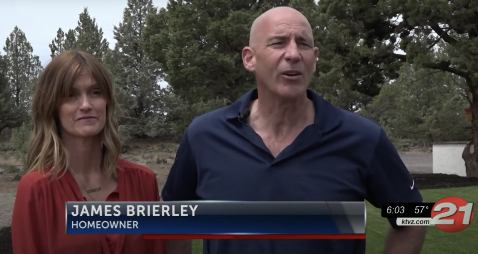Suzanne and James Brierley hope the new owners will preserve the lava tube. Source: KTVZ