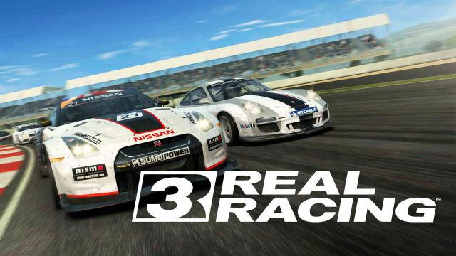 Still from Real Racing 3 app game