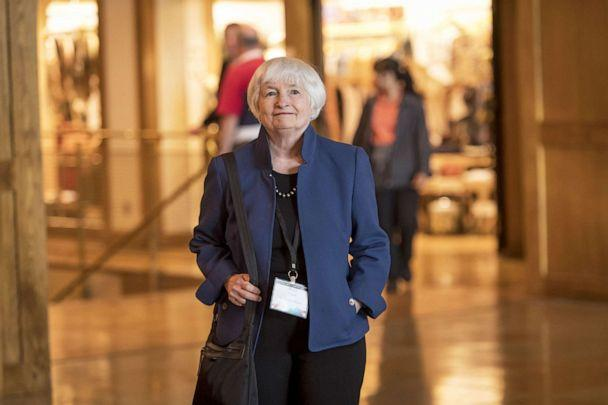 PHOTO: Janet Yellen arrives for the Jackson Hole economic symposium, in Moran, Wyo., Aug. 22, 2019. (Bloomberg via Getty Images, FILE)