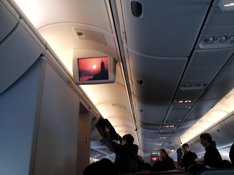 Additional video screens supplemented our seat-back units.