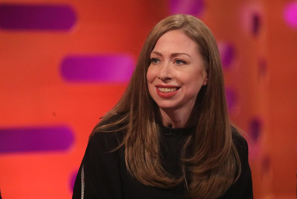 Chelsea Clinton during the filming for the Graham Norton Show at BBC Studioworks 6 Television Centre, Wood Lane, London, to be aired on BBC One on Friday evening. (Photo by Isabel Infantes/PA Images via Getty Images)