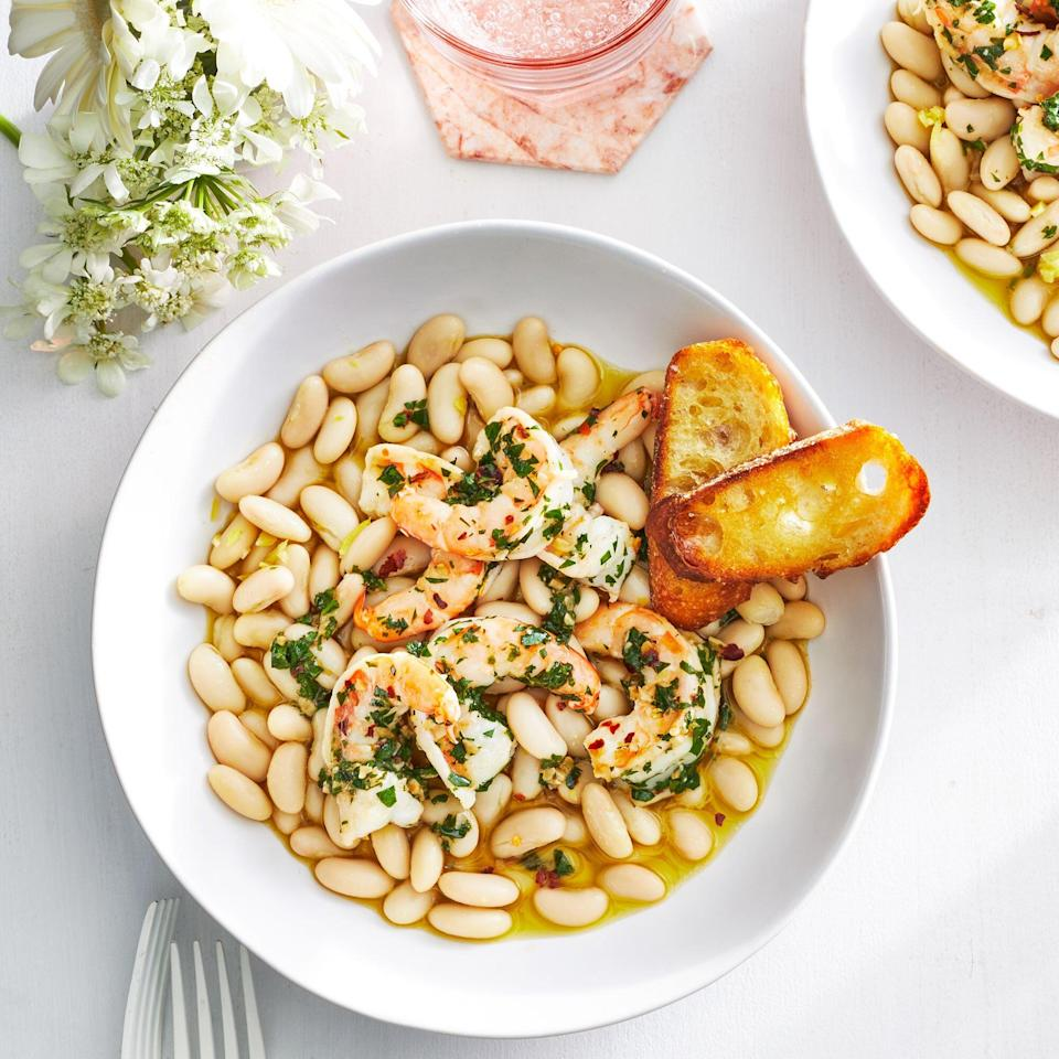 Buttery Shrimp and White Beans