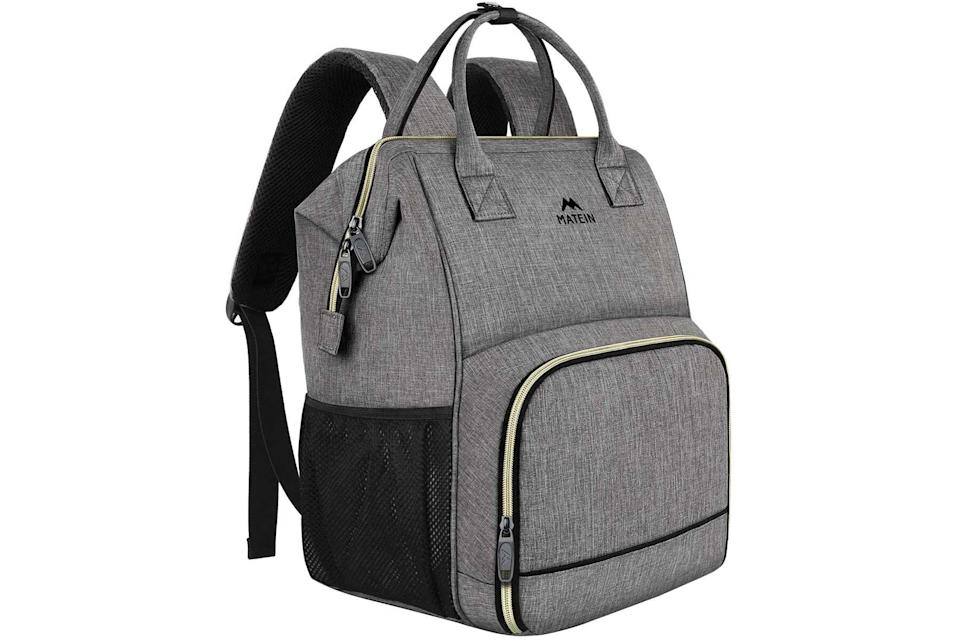 Matein insulated laptop backpack in gray