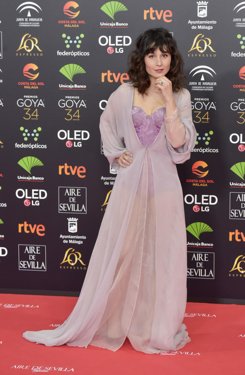 MALAGA, SPAIN - JANUARY 25: Nadia de Santiago attends the Goya Cinema Awards 2020 during the 34th edition of the Goya Cinema Awards at Jose Maria Martin Carpena Sports palace on January 25, 2020 in Malaga, Spain. (Photo by Juan Naharro Gimenez/WireImage)