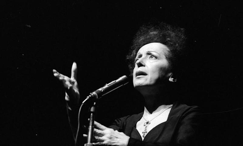 French singer Edith Piaf performing in Paris in 1961