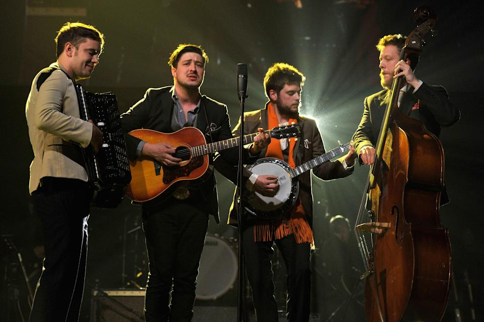 Mumford and Sons performing live (Getty Images for NARAS)