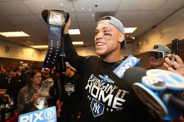 "The <a class=""link rapid-noclick-resp"" href=""/mlb/teams/ny-yankees/"" data-ylk=""slk:Yankees"">Yankees</a> are bringing home a World Series title in 2020. (Photo by Jordan Johnson/MLB Photos via Getty Images)"