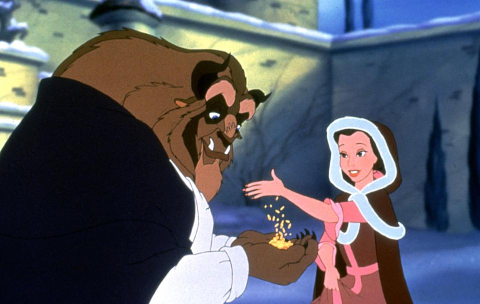 """<p>I love both the 1991 animated version of this movie and the 2017 live-action starring Emma Watson, but the OG makes this list for a reason. There's just something about <em>Beauty and the Beast</em> that reminds me of chilly nights at home growing up, with hot chocolate. Maybe it's the fact so much of this movie takes place in frigid snow. </p> <p><a href=""""https://cna.st/affiliate-link/NdFgiDhcJZd5E48XzkMwttEiGfJpyyKT2brfNX2kL3QLfqbVQA6s5ZibcrNGAxUX8Dy1CkoFZ8EJyViZ4Sgxg8wKo9SZjZpUrQ89iPxtSeGDPapWEWx6WzfT85M1cWWvPzRM9xHGQMtETGPpamfW6W44KpAyt5VuZ?cid=5e864a3bf82e540008059ea7"""" rel=""""nofollow noopener"""" target=""""_blank"""" data-ylk=""""slk:Available on Disney+"""" class=""""link rapid-noclick-resp""""><em>Available on Disney+</em></a></p>"""