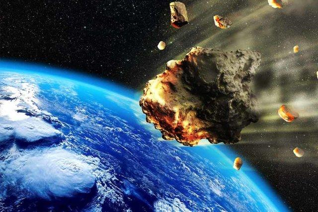Giant dust cloud triggered by asteroid collision sparked explosion in the Earth's early life