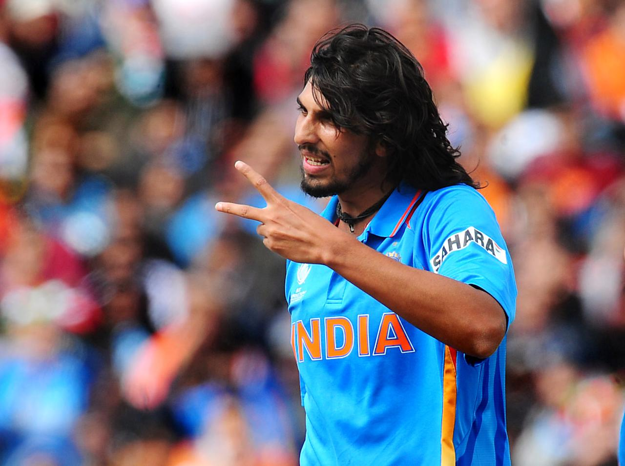 India's Ishant Sharma during the ICC Champions Trophy match at Edgbaston, Birmingham. PRESS ASSOCIATION Photo. Picture date: Saturday June 15, 2013. See PA story CRICKET India. Photo credit should read: Rui Vieira/PA Wire. RESTRICTIONS: Use subject to restrictions. Editorial use only. No commercial use. Call 44 (0)1158 447447 for further information.