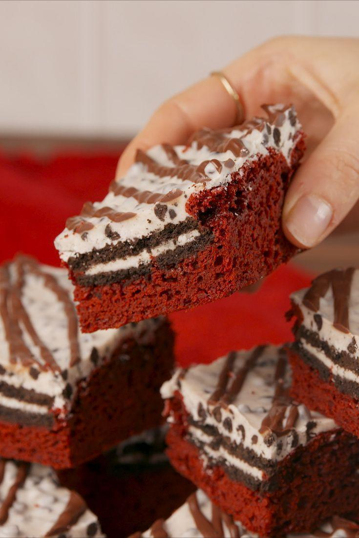 "<p>Red velvet + Oreo = a dream team. </p><p>Get the recipe from <a href=""https://www.delish.com/cooking/recipe-ideas/recipes/a58116/red-velvet-cookies-and-cream-bars-recipe/"" rel=""nofollow noopener"" target=""_blank"" data-ylk=""slk:Delish"" class=""link rapid-noclick-resp"">Delish</a>.</p>"