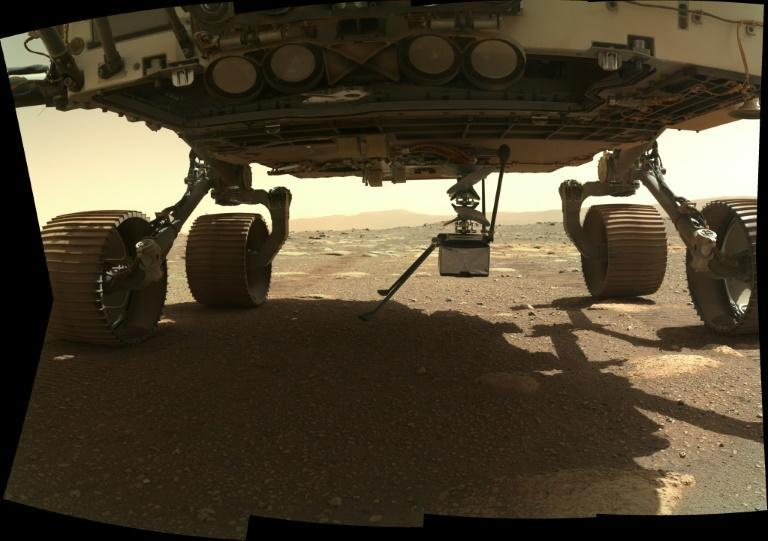 NASA's Ingenuity Mars Helicopter was fixed to the belly of the Perseverance rover, which touched down on February 18