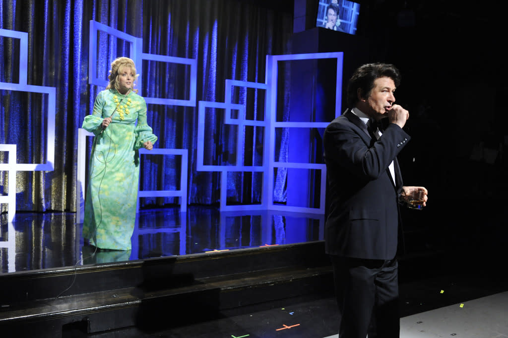 """Jane Krakowski and Alec Baldwin in the """"Live from Studio 6H"""" episode of """"<a href=""""http://tv.yahoo.com/30-rock/show/37064"""">30 Rock</a>."""""""