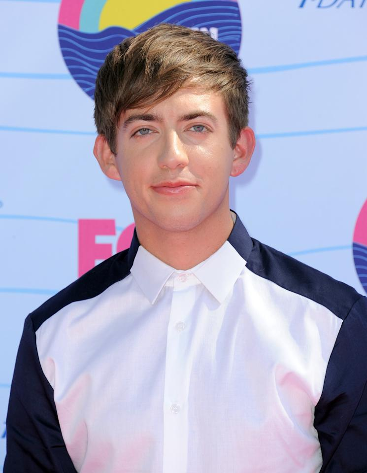 Kevin McHale arrives at the Teen Choice Awards on Sunday, July 22, 2012, in Universal City, Calif. (Photo by Jordan Strauss/Invision/AP)
