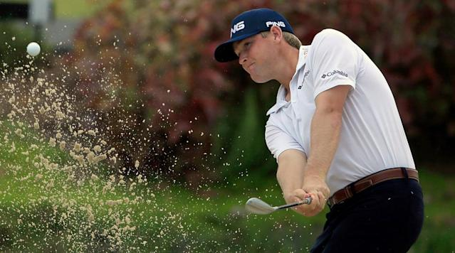 RIO GRANDE, Puerto Rico (AP) -- Five days after getting married, Trey Mullinax ran off nine birdies and saved par with a 15-foot putt on his last hole for a 9-under 63 to take the lead at the Puerto Rico Open.