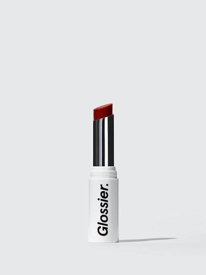 """<p>Glossier has gained a devoted following over the past couple years, and the brand's sheer, matte Generation G lipstick is part of the reason. It's a wash of color that's somewhere in-between a lip stain and a lipstick, which creates a casual look. If you want a classic red but in a modern finish, this is the red lipstick for you. </p> <p><strong>To buy: </strong>$18, <a href=""""http://glossier.sjv.io/c/249354/431612/7573?subId1=RS%2C9ClassicRedLipstickswithaCultFollowing%2Ckholdefehr1271%2CMAK%2CIMA%2C638165%2C201812%2CI&u=https%3A%2F%2Fwww.glossier.com%2Fproducts%2Fgeneration-g"""" target=""""_blank"""">glossier.com</a>. </p>"""