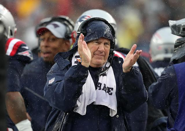 Bill Belichick's 300th win came against the team that won his first. (Jim Davis/Getty)