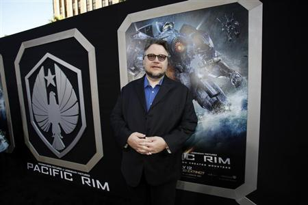 "Director Guillermo del Toro poses at the premiere of ""Pacific Rim"" at Dolby theatre in Hollywood"