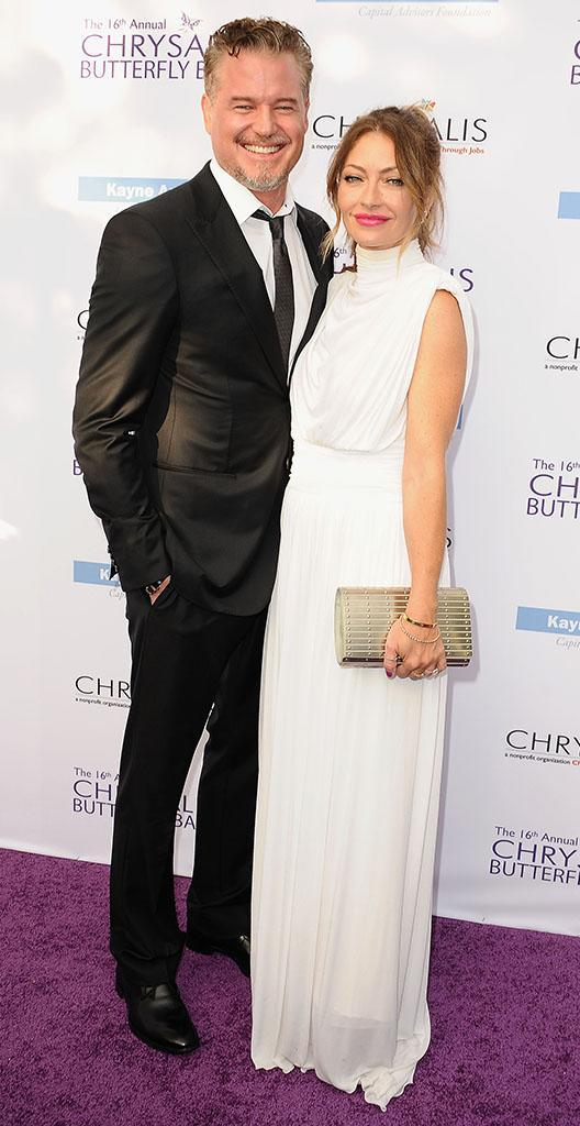 Eric Dane, with wife Rebecca Gayheart, made his first public appearance since taking time off to treat his depression, at the 16th annual Chrysalis Butterfly Ball on June 3. (Photo: Jason LaVeris/FilmMagic)