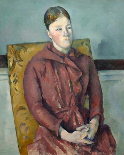 <span>Madame Cezanne in a Yellow Chair, 1888</span> <span>Credit: The Art Institute of Chicago </span>