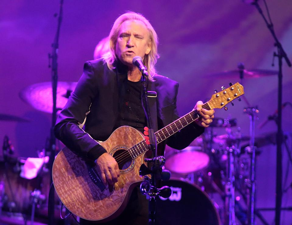 Joe Walsh of the Eagles playing a solo show in Philadelphia in 2015.