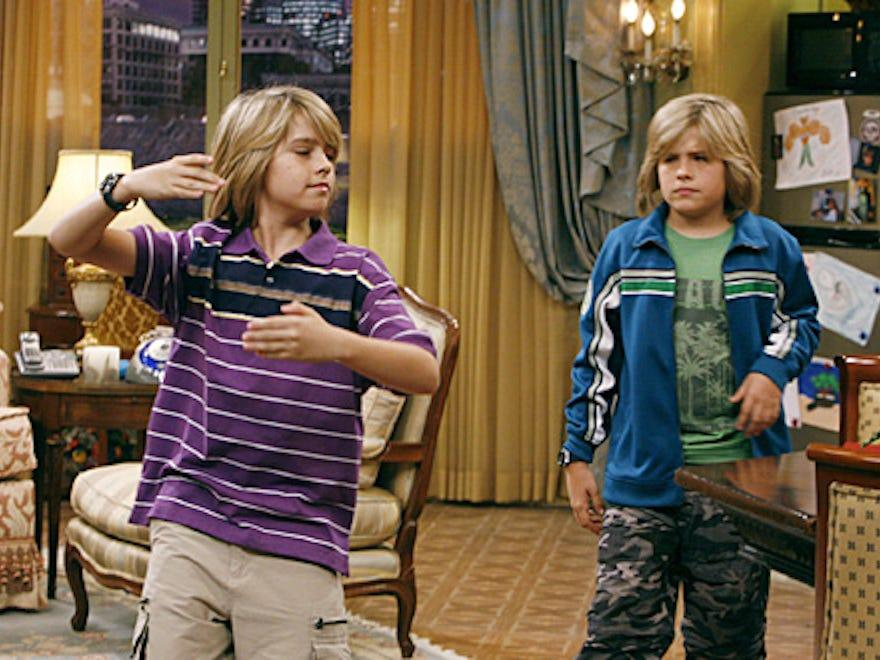 "Dylan and Cole Sprouse in ""The Suite Life of Zack and Cody."""