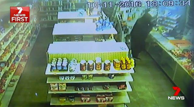 It was not the first time the milk bar was targeted. Source: 7 News