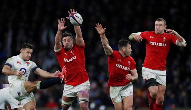 Rugby Union - Six Nations Championship - England vs Wales - Twickenham Stadium, London, Britain - February 10, 2018. England's Danny Care in action with Wales' Josh Navidi Action Images via Reuters/Paul Childs TPX IMAGES OF THE DAY