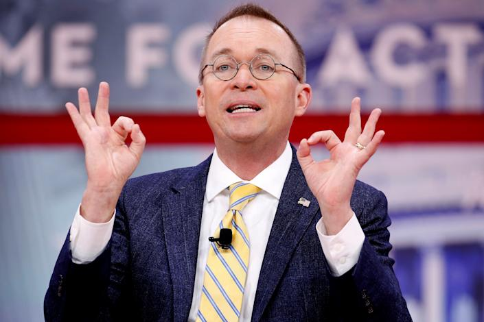 Director of the Office of Management and Budget Mick Mulvaney speaks at the Conservative Political Action Conference (CPAC) at National Harbor, Maryland, U.S., February 24, 2018. (Photo: Joshua Roberts / Reuters)