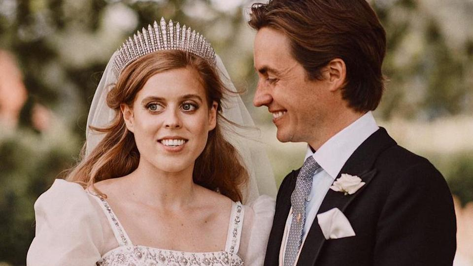 A new never-before-seen photo of Princess Beatrice and Edoardo Mapelli's wedding has been released. Photo: Instagram/benjaminwheeler