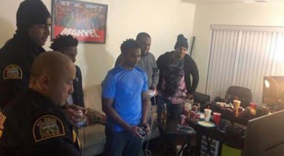Neighbors called the police on Jovante M. Williams and his friends playing video games. Police responded appropriately. (Photo: Jovante M. Williams via Facebook)