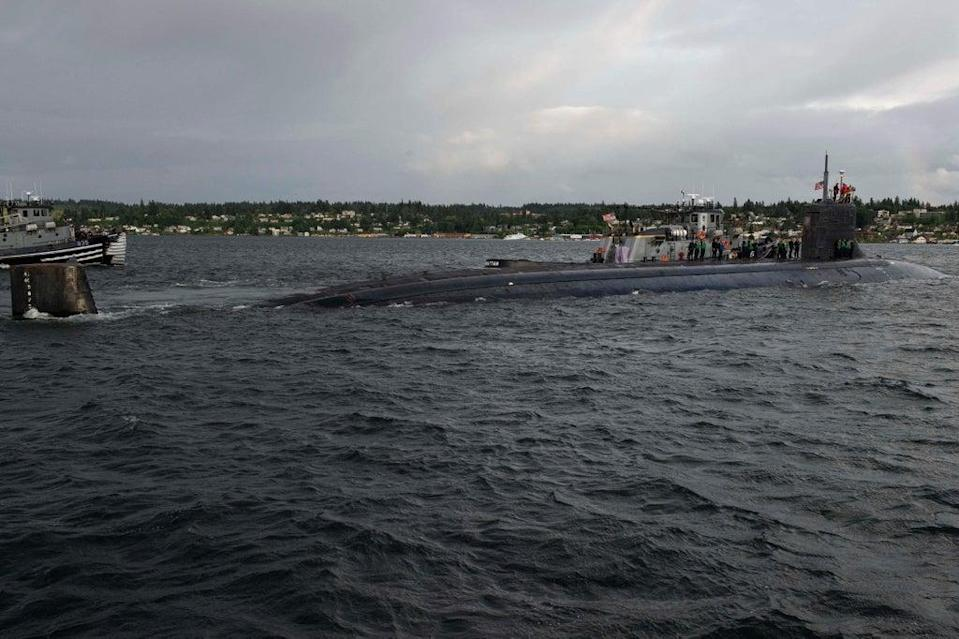 US Navy's The Seawolf-class fast-attack submarine USS Connecticut (US NAVY/AFP via Getty Images)