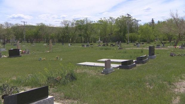 The Cowessess First Nation says it has found hundreds of unmarked graves at the former Marieval Indian Residential School gravesite. There are already also some marked graves at the site. (CBC - image credit)
