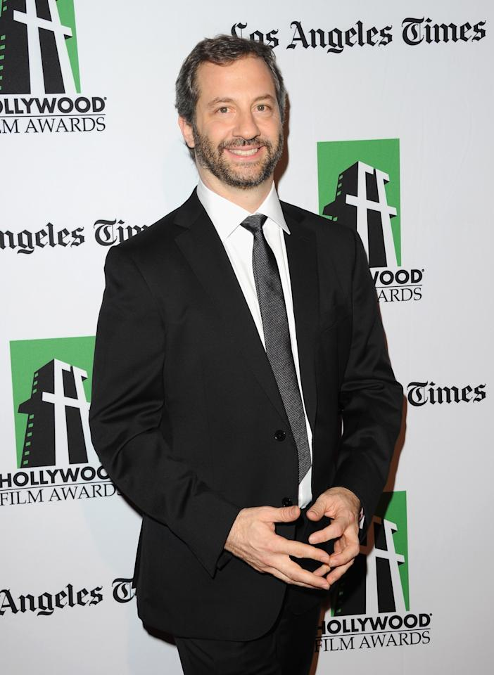 BEVERLY HILLS, CA - OCTOBER 22:  Producer Judd Apatow arrives at the 16th Annual Hollywood Film Awards Gala presented by The Los Angeles Times held at The Beverly Hilton Hotel on October 22, 2012 in Beverly Hills, California.  (Photo by Jason Merritt/Getty Images)