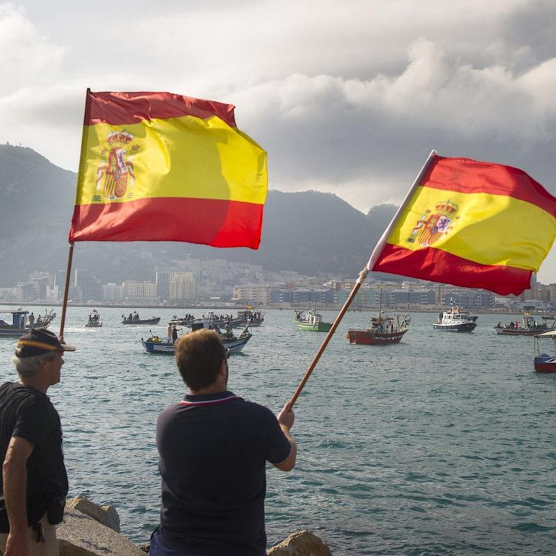 Lord Howard has suggested that Theresa May would go to war with Spain to defend the sovereignty of Gibraltar - Credit: MARCOS MORENO/AFP