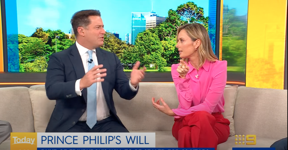 Ally Langdon and Karl Stefanovic on The Today Show