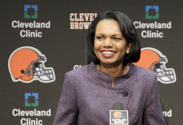 The internet didn't know what to do with the rumor that the Browns may be considering Condoleezza Rice to replace fired head coach Hue Jackson. (AP)