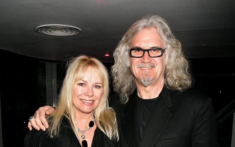 Billy Connolly, pictured with his wife Pamela Stephenson, has opened up about his battle with Parkinson's - Getty Images