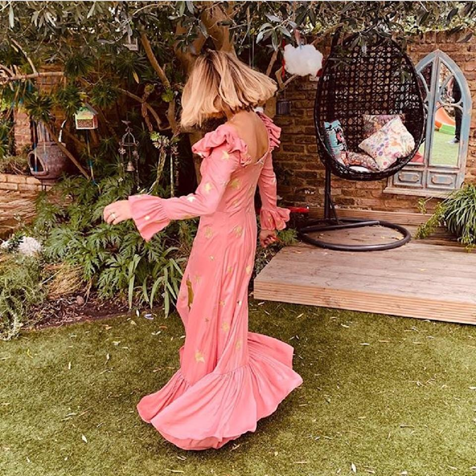 Fearne Cotton's Mary Benson Moon and Stars pink gown donated to Mind auction (Mind Fearne Cotton/PA)