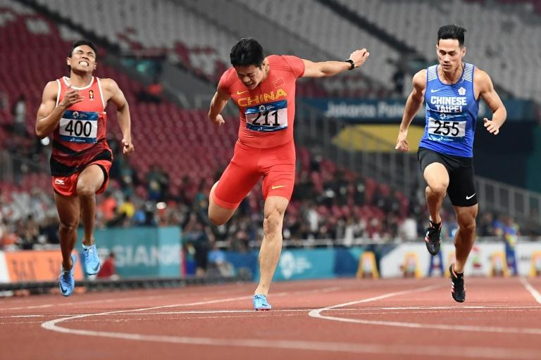 China's Su Bingtian won the 100 metres in a Games-record time of 9.92 seconds