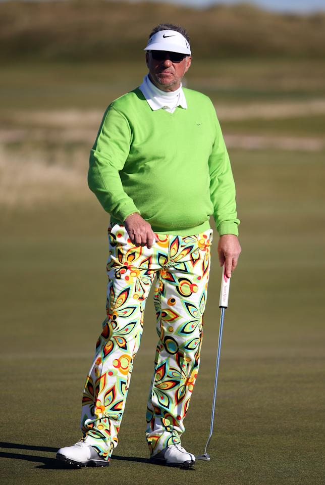 ST ANDREWS, SCOTLAND - OCTOBER 04: Sir Ian Botham during the first round of The Alfred Dunhill Links Championship at The Old Course on October 4, 2012 in St Andrews, Scotland.  (Photo by Ross Kinnaird/Getty Images)