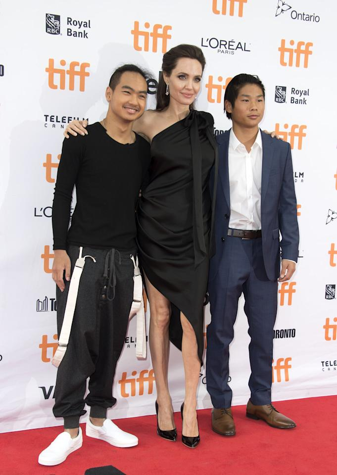"<p>Brad and Angelina's oldest child, a son named Maddox, was born on Aug. 5, 2001, in Cambodia. He was adopted by then-single mom Angelina in 2002 when he was 7 months old. At 18, <a href=""https://www.popsugar.com/family/Angelina-Jolie-Drops-Maddox-Off-College-Instagram-46527275"" target=""_blank"" class=""ga-track"" data-ga-category=""Related"" data-ga-label=""https://www.popsugar.com/family/Angelina-Jolie-Drops-Maddox-Off-College-Instagram-46527275"" data-ga-action=""In-Line Links"">Maddox started college at Yonsei University in South Korea</a>, and Angelina took the trip to drop him off. ""I leave today, today's the day I drop him off . . . I'm trying not to cry,"" Angelina told Maddox's classmates. So sweet!</p>"