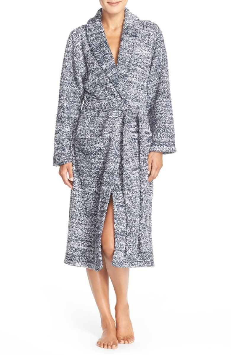 <p>With her expanding body, she'll appreciate a brand new <span>Barefoot Dreams CozyChic Robe</span> ($99). Plus, once baby comes, having pockets to carry things around becomes clutch.</p>