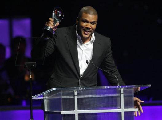Tyler Perry, $105 million: Tyler Perry, recipient of the CinemaCon Visionary Award, accepts his award during CinemaCon, the official convention of the National Association of Theatre Owners, in Las Vegas, Nevada March 31, 2011.