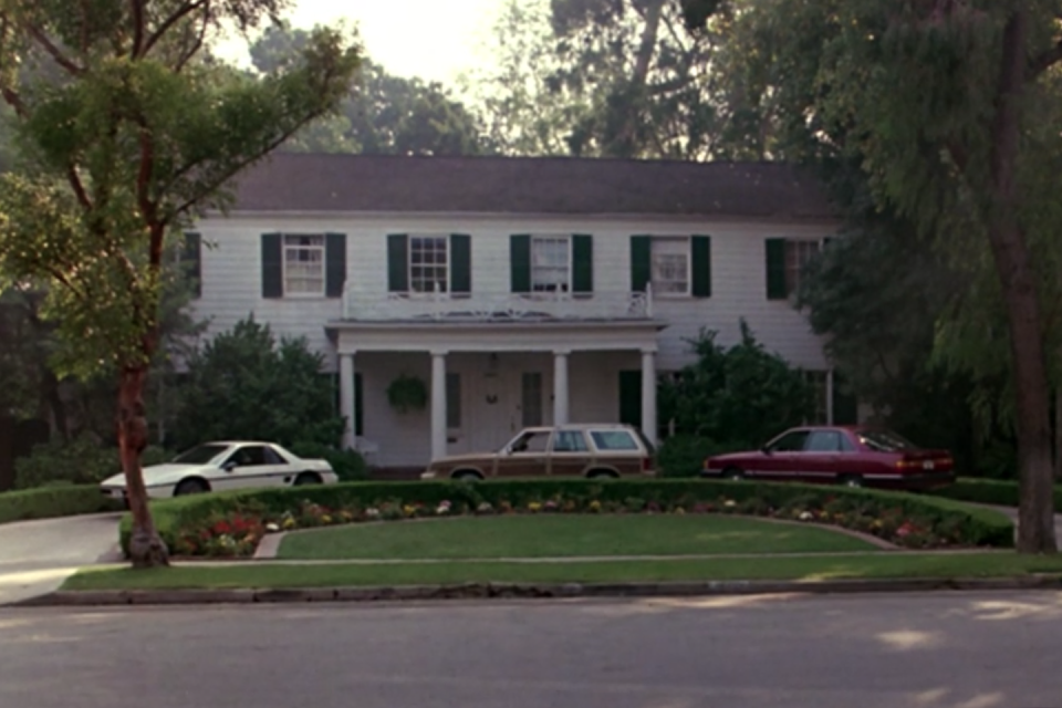 <p>The traditional Colonial where Ferris started his infamous day off may have been set in Chicago yet actually stands in Long Beach, California. The nearly 5,000 square foot home was used for interior shots in the movie as well as exterior shots. Who else painfully remembers that wallpapered staircase?</p><p> 4160 Country Club Dr. Long Beach, CA 90807</p>