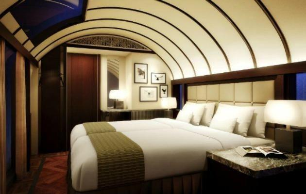 The Mizukaze double room is classier than your normal train cabin.
