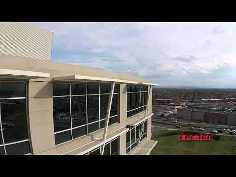 """<p>When the quadcopter flies up to high and loses signal, it typically enters """"return to home"""" mode and autopilot takes over. This is far better than just falling out of the sky, but it can be a problem when there's something like a building in the way. Observe!<span></span></p>"""